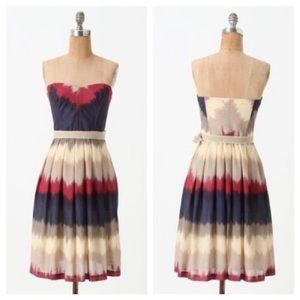 Anthropologie Corey lynn color dipped dress 6